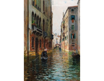 Slavné obrazy I-DDSO-48 Bernardo Hay - Scéna z Benátek