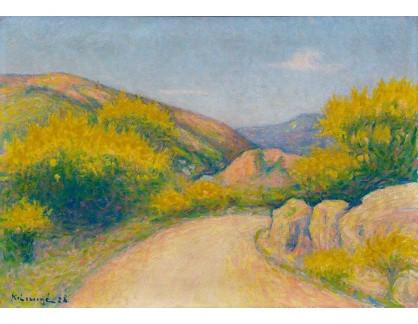 Slavné obrazy II-DDSO-376 Achille Lauge - Venkovská cesta