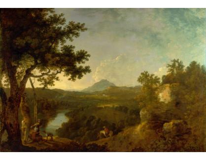 Slavné obrazy XIV-68 Richard Wilson - Krajina Wynnstay