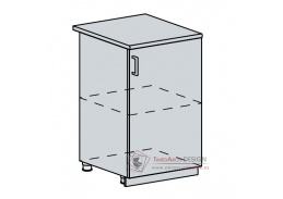 VALERIA, dolní skříňka 1-dveřová 50D, bílá / wenge