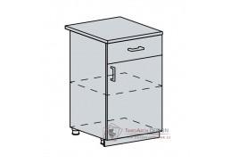 VALERIA, dolní skříňka 1-dveřová se zásuvkou 50D1S, bílá / white stripe