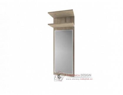 ORESTES, panel se zrcadlem 40cm, dub san remo