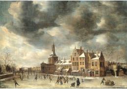 VH11 jan Abrahamsz Beerstraaten - Blauwpoort v Leidenu v zimě
