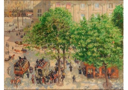 SO IV-37 Camille Pissarro - Place du Theatre Francais v Paříži
