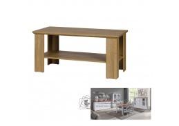 LEON MZ17, konferenční stolek, bílá / dub grand