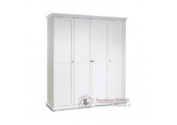 PARIS 75354, šatní skříň 180cm, bílá