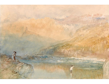 Joseph Mallord William Turner - Na Mosell u Traben Trarbach