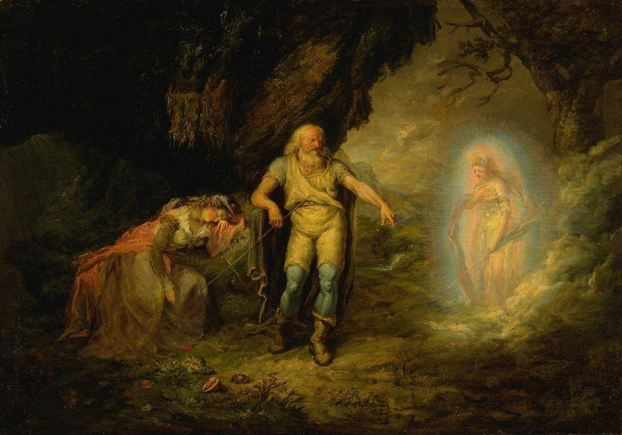 Slavné obrazy XIV-45 Neznámý autor - Prospero, Miranda a Ariel