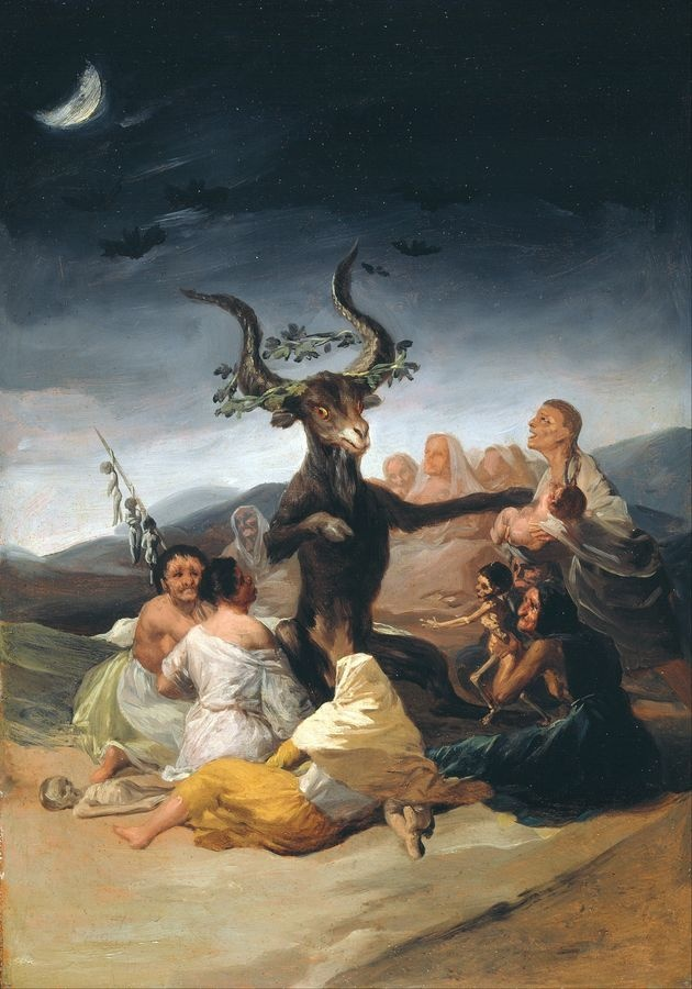Slavné obrazy XVII-100 Francisco de Goya y Lucientes - Čarodějnice Sabbath