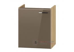 DUNDALK, skříňka pod umyvadlo 1-dveřová DUM VEA 49 P/L, dub artisan / béžový lesk