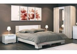 LAGUNA 2, ložnicová sestava nábytku SET1, dub sonoma / bílý lesk