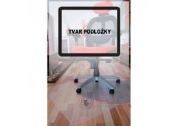 PP podložka pod židli hladká, 90x120 cm, tvar O, mléčná