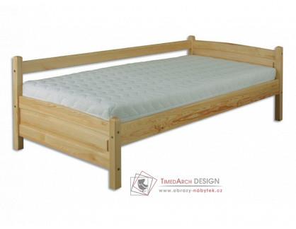 KL-132, postel 90x200cm, borovicový masiv