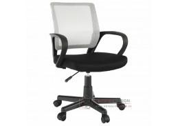 ADRA, kancelářská židle, látka mesh černá / šedá