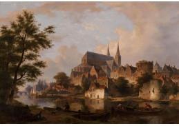 Slavné obrazy VI-10 Bartholomeus Johannes van Hove - Panorama města