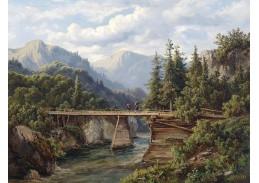 SO XII-105 Edmund Höd - Dřevěný most přes horskou řeku