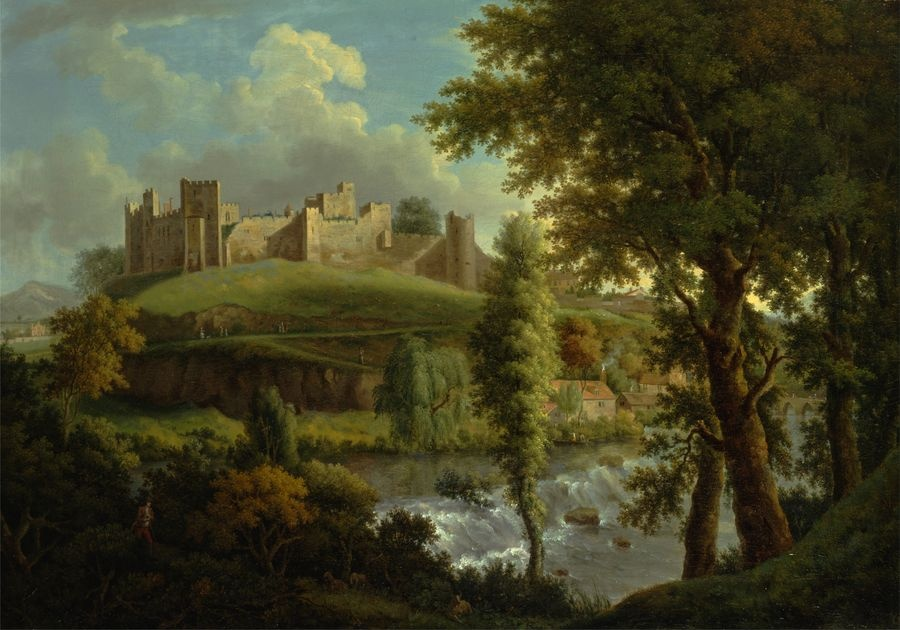 Slavné obrazy XIV-96 Samuel Scott - Hrad Ludlow