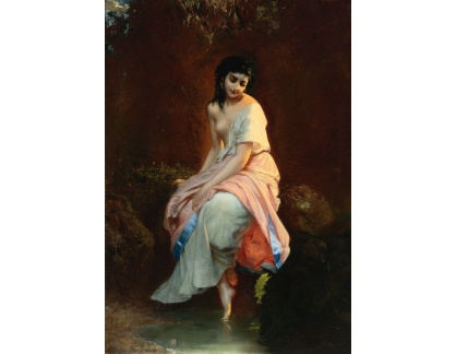 Slavné obrazy XVII-14 Etienne Adolphe Piot - Koupel