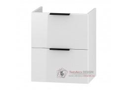 LONGFORD, skříňka pod umyvadlo DUM VEA 49 S/2, bílá / bílý lesk