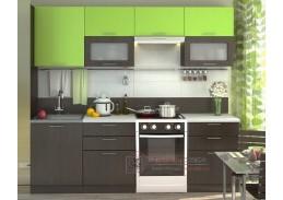 VALERIA, kuchyně 240cm, wenge / limeta lesk