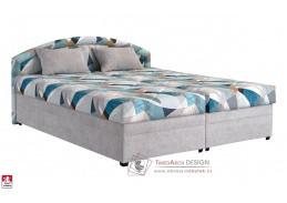 KAROLÍNA, postel 160x200cm, látky AXEL / ASTON 15