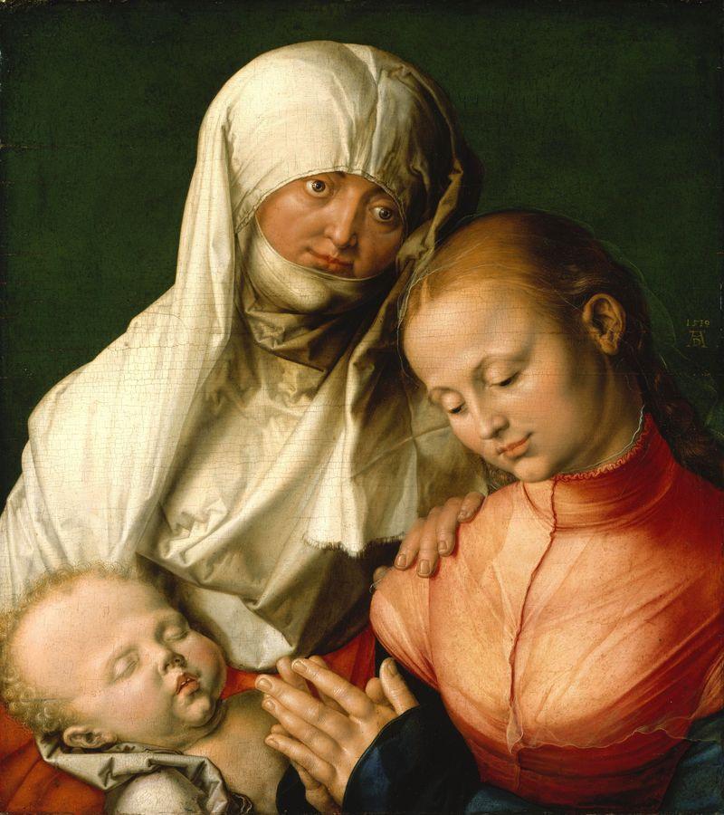 VR12-32 Albrecht Dürer - Matka boží s děťátkem a svatou Annou