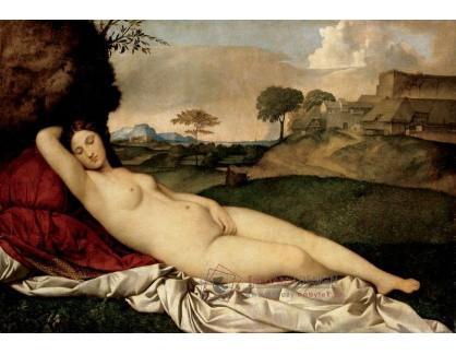 Slavné obrazy X-468 Giorgione - Spící Venuše