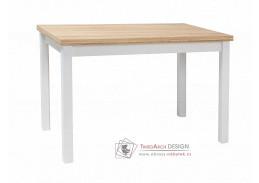 ADAM, jídelní stůl 120x68cm, dub / bílá