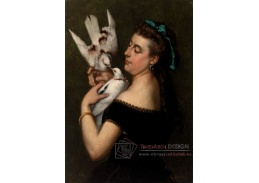 D-7873 Gustave Courbet - Žena s holuby