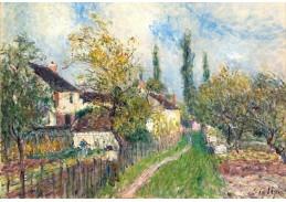 Slavné obrazy XI-12 Alfred Sisley - Cesta k Sablons
