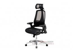 KA-A189 BK, kancelářská židle, látka mesh černá