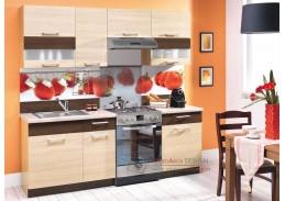 MODENA LTD, kuchyň 220cm s pracovní deskou 100+60 cm, výběr provedení