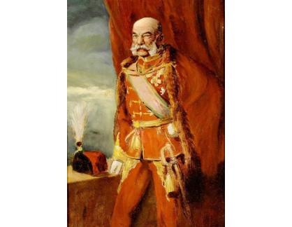 Krásné obrazy II-453 Neznámý autor - Císař František Josef I v maďarské uniformě