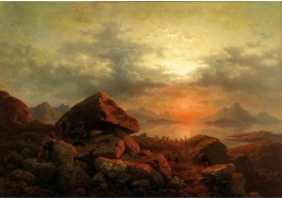 DDSO-4995 Georg Eduard Otto Saal - Východ slunce