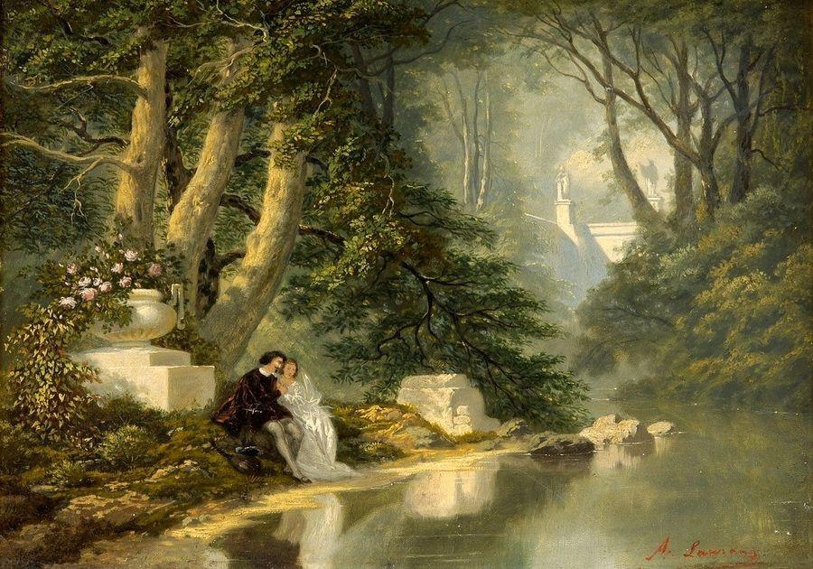 VF107 Albert F. Laurens - Mladý pár v parku