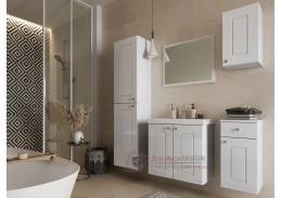 ARMOY I, koupelnová sestava nábytku, bílá / bílý lesk