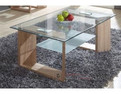 Konferenční stolek VLASTA dub sonoma / sklo
