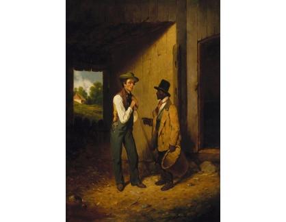 Slavné obrazy XVII-93 Francis William Edmonds - Jenom řeči a žádná práce