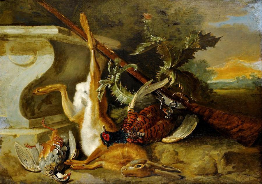 Krásné obrazy IV-108 Jean-Baptiste Oudry - Lovecké zátiší