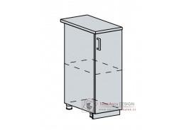 PROVENCE, dolní skříňka 1-dveřová 30D, bílá / šedá