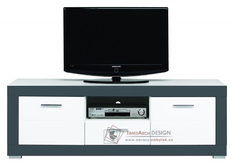 GRAY, Televizní stolek GR 1 bílá / grafit