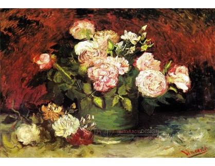 VR2-188 Vincent van Gogh - Mísa s pivoňkami a růžemi