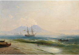 VR-346 Ivan Konstantinovič Aivazovski - Pohled na Vesuv