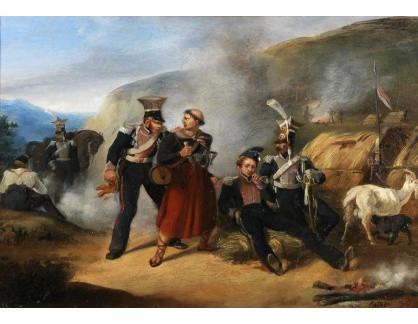 Slavné obrazy III-DDSO-484 Auguste Raffet - Scéna z napoleonských válek