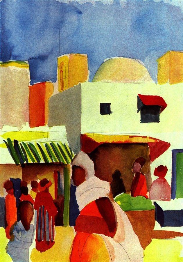 VAM14 August Macke - Obchod v Alžíru