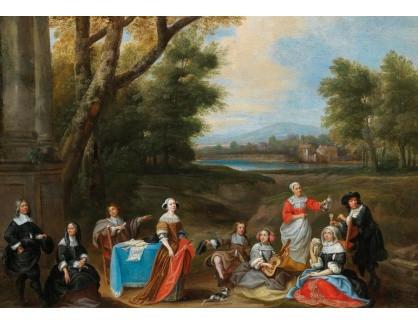 DDSO-1846 Pieter van der Plas - Šlechtická rodina v krajině