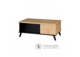SIRAN 8, konferenční stolek, dub lefkas / černá