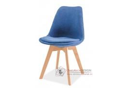 DIOR, jídelní židle, buk / látka modrá