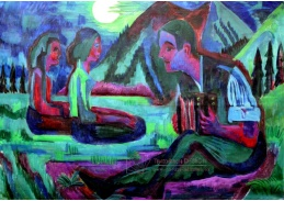 VELK 100 Ernst Ludwig Kirchner - Handorgler za měsíčné noci