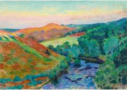 Slavné obrazy III-DDSO-474 Armand Guillaumin - Krajina Creuse